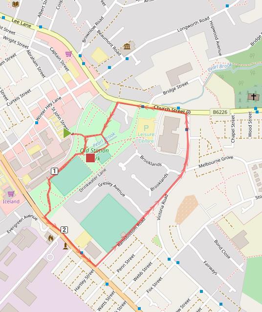 Run NHS Friends And Family Fun Triathlon - How to map out a run